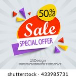 sale   special offer banner.... | Shutterstock .eps vector #433985731