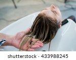 Hair Care In Modern Spa Salon....