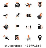 navigation ransport map web... | Shutterstock .eps vector #433991869