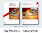 brochure template design.... | Shutterstock .eps vector #433992535