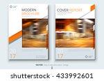 cover leaflet design. corporate ... | Shutterstock .eps vector #433992601