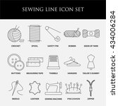 sewing icons. embroidery... | Shutterstock .eps vector #434006284