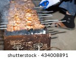 shish kebab on a stick | Shutterstock . vector #434008891