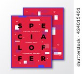 special offer sale poster  card ... | Shutterstock .eps vector #434015401