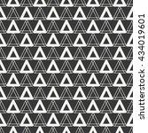 geometric line monochrome... | Shutterstock .eps vector #434019601