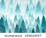 hand drawn watercolor painting... | Shutterstock .eps vector #434024557