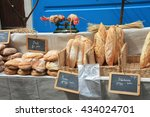 Traditional French Bread On A...
