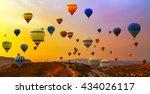 Hot Air Balloons Landing In A...