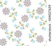 doodle floral bouquets on a... | Shutterstock .eps vector #434027659