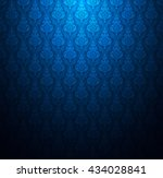 Thailand Thai Dark Blue Background Pattern Texture Vintage Wallpaper Design Vector