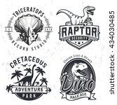 Set Of Dino Logos. Raptor T...