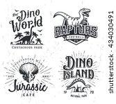 Dinosaur Vector Logo Set....