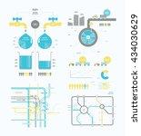 infographics abstract... | Shutterstock .eps vector #434030629