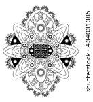 vector beautiful deco... | Shutterstock .eps vector #434031385