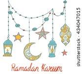 ramadan kareem background ... | Shutterstock .eps vector #434047015