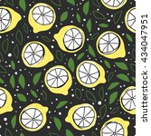 vector seamless pattern with... | Shutterstock .eps vector #434047951