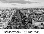 paris view from arc de triomphe ... | Shutterstock . vector #434052934