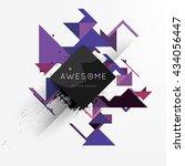 geometric vector background....   Shutterstock .eps vector #434056447