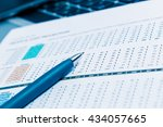financial graph and chart | Shutterstock . vector #434057665