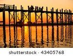 Silhouette Of U Bein Bridge At...