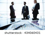 close up of business charts... | Shutterstock . vector #434060431