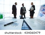 close up of business plan with... | Shutterstock . vector #434060479