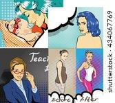 people characters stock vector... | Shutterstock .eps vector #434067769