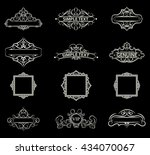 wicker lines and old decor...   Shutterstock .eps vector #434070067