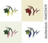 monogram. letter w. hand drawn...   Shutterstock .eps vector #434072479