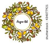 argan banner in eco style in... | Shutterstock .eps vector #434077921