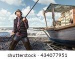 fisherman problems concept | Shutterstock . vector #434077951