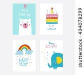 vector birthday card | Shutterstock .eps vector #434078299