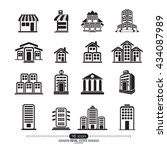 building icons set. | Shutterstock .eps vector #434087989