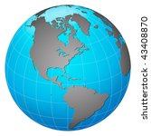 planet earth  america centric | Shutterstock . vector #43408870