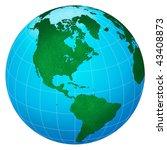 green planet  america centric... | Shutterstock . vector #43408873