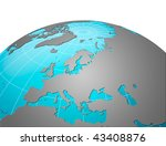planet earth  europe centric | Shutterstock . vector #43408876
