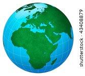 green planet  europe centric... | Shutterstock . vector #43408879