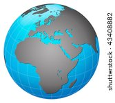 planet earth  europe centric | Shutterstock . vector #43408882