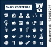 snack coffee bar icons  | Shutterstock .eps vector #434089249