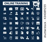 online training icons  | Shutterstock .eps vector #434089255