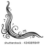 music sheet with music notes... | Shutterstock .eps vector #434089849