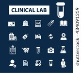 clinical lab icons  | Shutterstock .eps vector #434091259