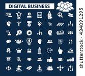 digital marketing icons  | Shutterstock .eps vector #434091295