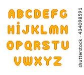orange pixel font | Shutterstock . vector #434098591