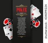 casino poster or banner... | Shutterstock .eps vector #434099224