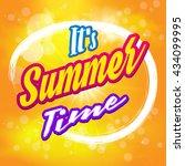 it's summer time wallpaper. | Shutterstock .eps vector #434099995