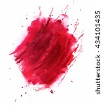 Artistic Watercolor Red...
