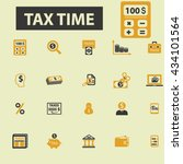 tax time icons    Shutterstock .eps vector #434101564