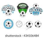european football  soccer labels | Shutterstock . vector #434106484