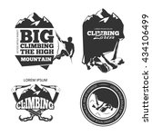 vintage mountain climbing logo... | Shutterstock . vector #434106499